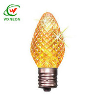 Orange Amber Color 0.3W LED C7 E12 Faceted Candle Strawberry Bulb
