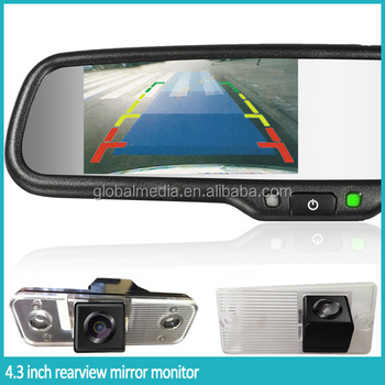 4.3 Inch Car Rearview Mirror With Waterproof Camera For Hyundai ...