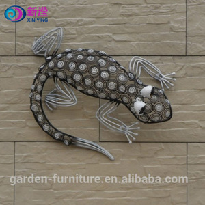 Wall hanging decorative iron lizard Ornament handmade metal lizard wire wall art