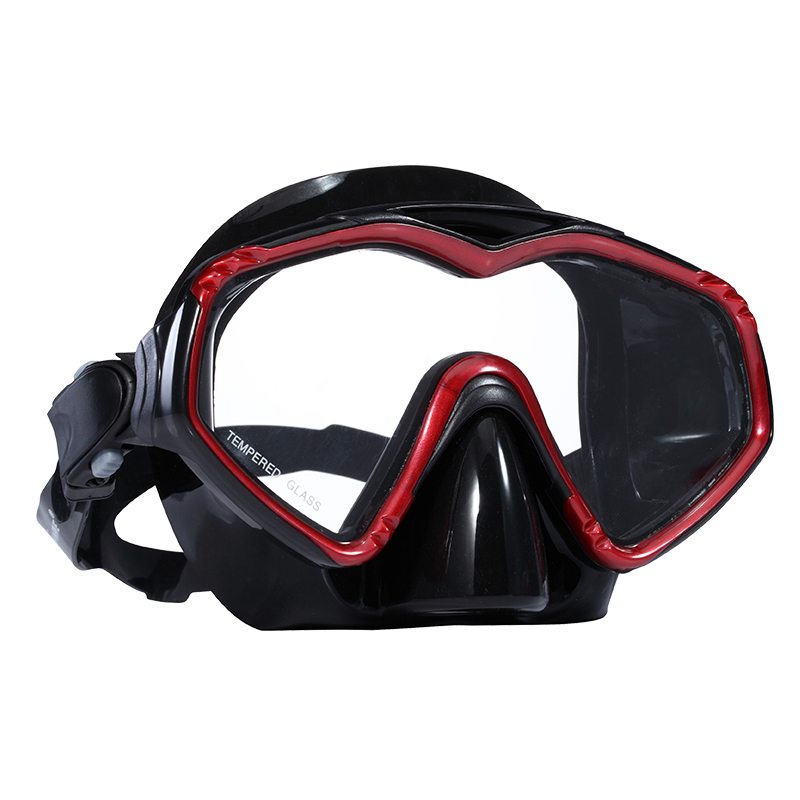 Big eye volume rendah perempuan silikon diving scuba dive masker dewasa