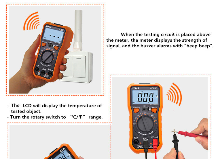 VICI VC835 Low Price Mini Multimeter with LCD display
