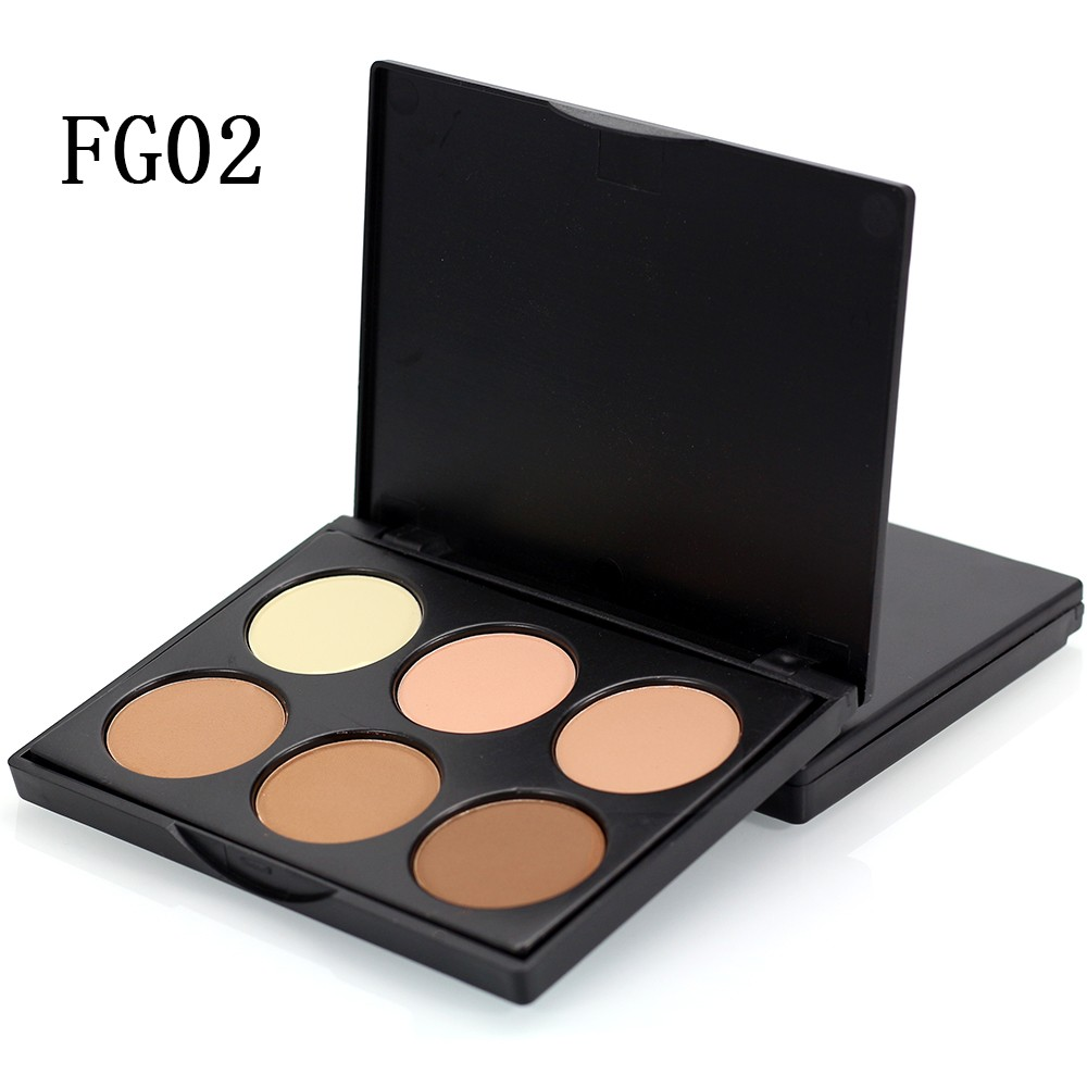 New Shading 6 Colors Compact Mineral Face Powder Contour