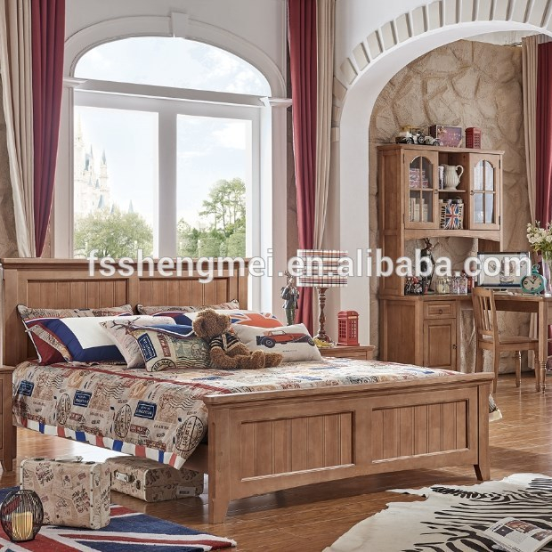 Natural Wood Color Children Bedroom Sets Queen Size Bed Study Desk Wardrobe  Made Of Oak Wood Good In Uk Marketing - Buy Natural Wood Color Children ...
