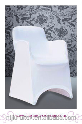 white spandex arm chair cover for plastic arm chair