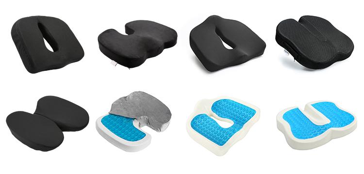 आउटडोर Patio फर्नीचर तकिये के लिए आर्थोपेडिक स्मृति फोम सीट कुशन कटिस्नायुशूल, कोक्सीक्स, Tailbone और Backpain