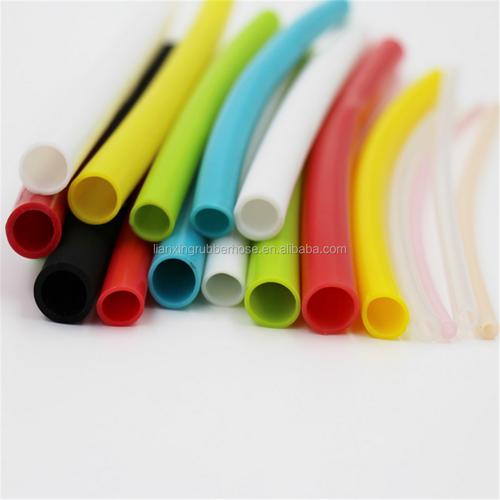 Custom colors micro hoses medical oxygen silicone hose