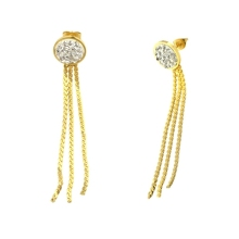 Stainless Steel Stud Earring Silk Thread Earring Tassel Earrings