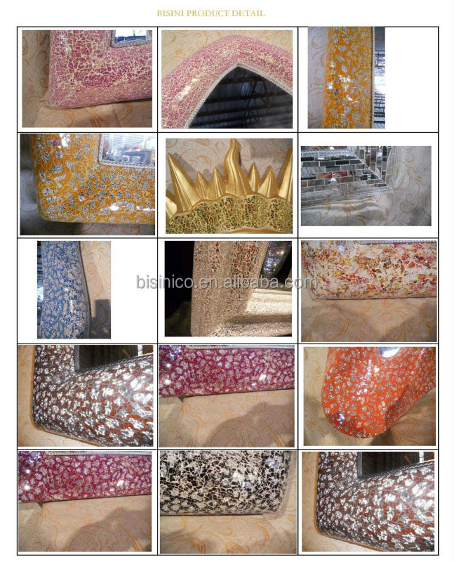 latest fashion floor standing mosaic frame mirrors,full length