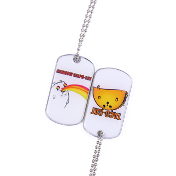 custom decorative pet shape dog tag