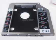 Hot Sale Universal Aluminum 2nd HDD Caddy 9.5mm 2.5″ SATA 3.0 SSD Case HDD Enclosure for Notebook ODD CD DVD ROM Optical Bay