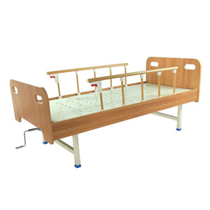 CE ISO manual nursing wooden hospital bed