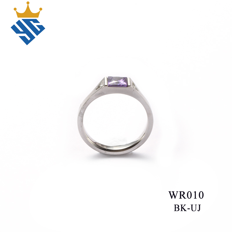 brushed 6mm width 3pcs cubic zirconium women ring for christmas catalogs