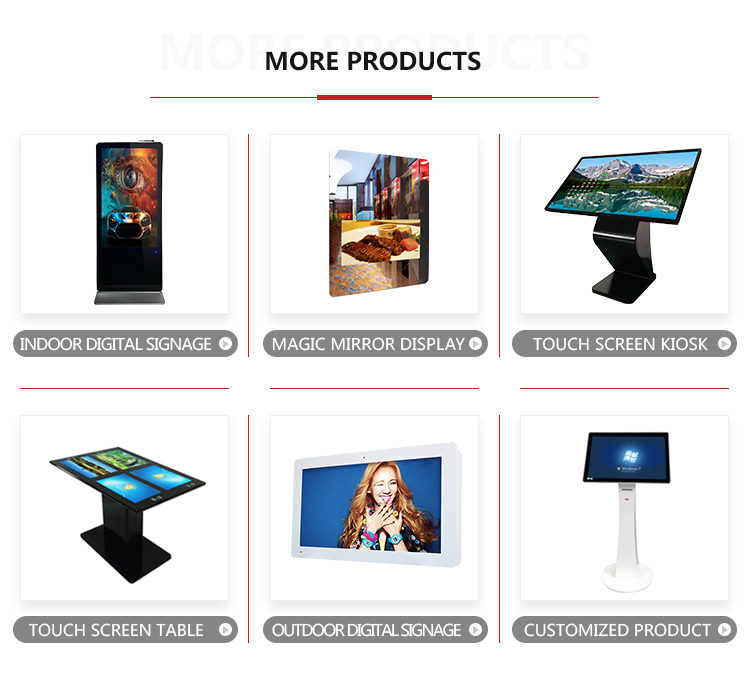 43 inch windows QR code scanner floor stand digital signage kiosk camera printer