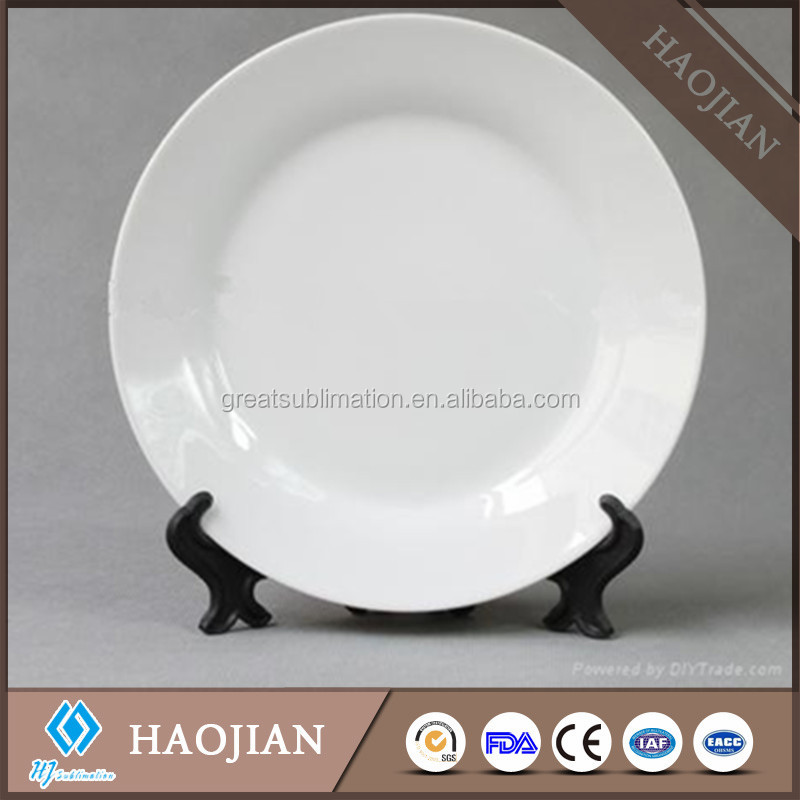 white ceramic plates with sublimation coating for printing (footstand sold separately)