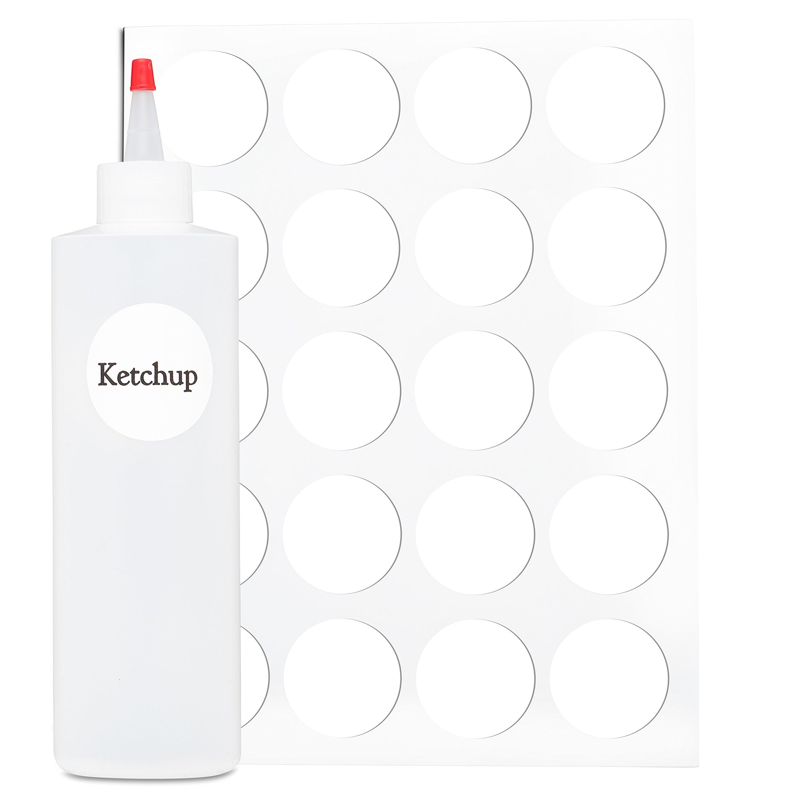 Buy Squeeze Bottle Labels - 40 Waterproof Blank Fifo Bottle