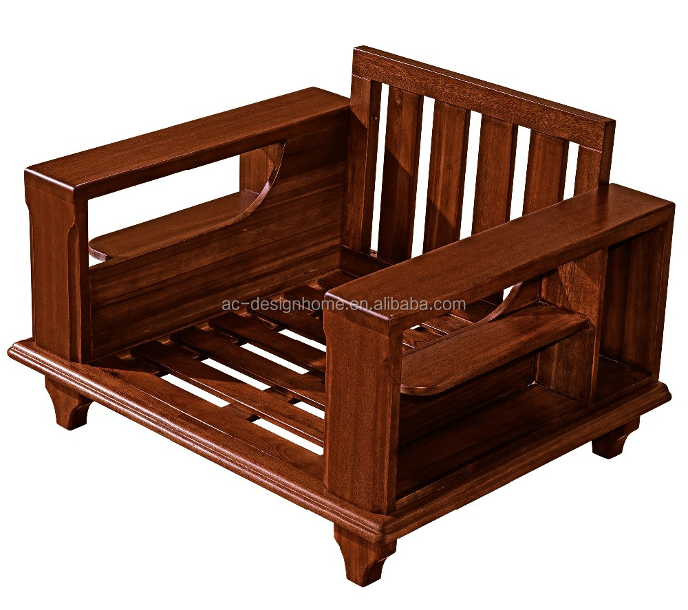 Wood Sofa Set Furniture Solid Design C025 Fh S01 1 Seat 2 Pictures Wooden 3