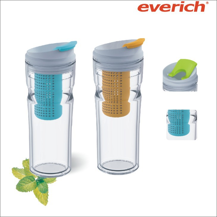 New Arrival 16oz Double Wall Juice Water Bottle Fruit Infuser