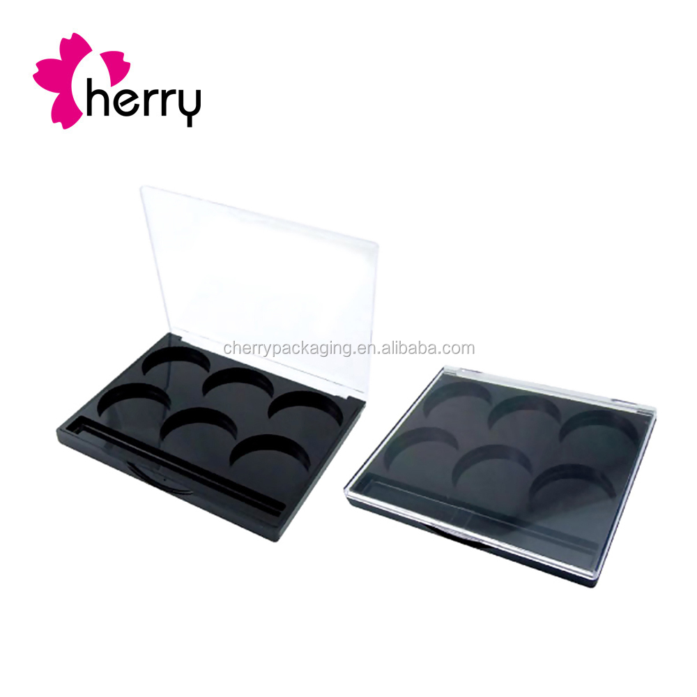 square shiny eyeshadow packaging, classical mold eyeshadow case