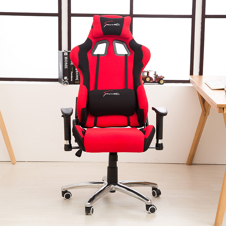 New Arrival knitted fabric 133cm hight adjustable gaming style swivel chairs