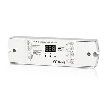 4CH 5A/CH Decoder Constant Voltage DMX512 RDM Decoder RGBW Controller 4 Channel Dimming Controller 12-24V Output PWM