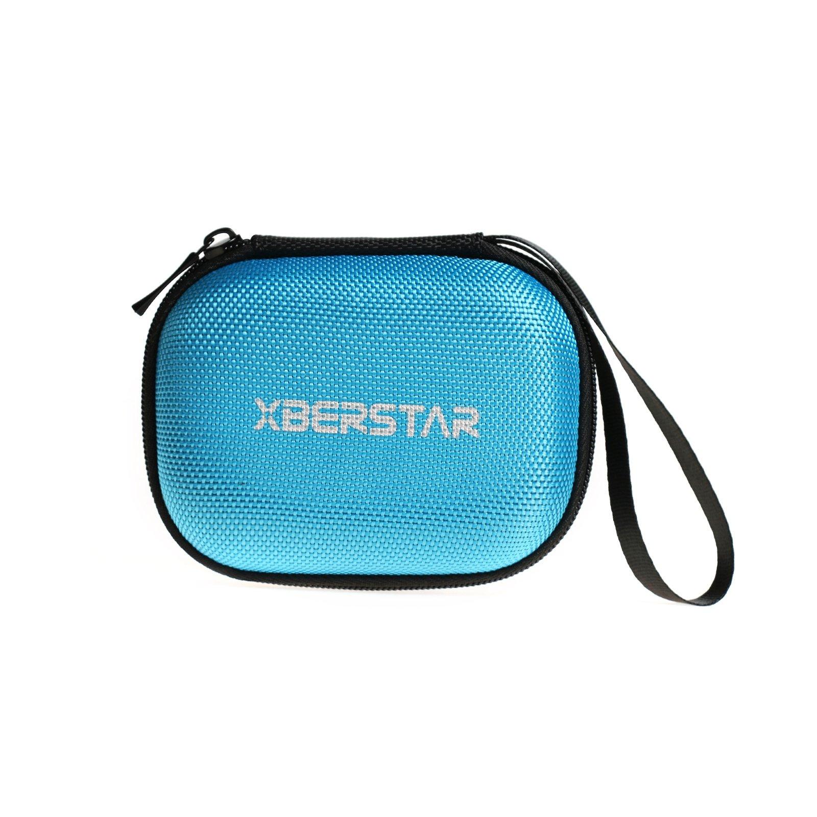 Hard EVA Carrying Case Bag for Garmin Edge 20 25 200 500 510 520 800 810 820 Cycling GPS Blue