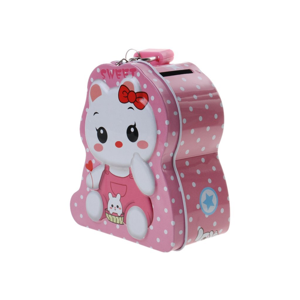 Cute Creative Cartoon Tin Piggy Bank Storage Saving Cash Money Coin Box Pot Saving Coin Money Tin Box