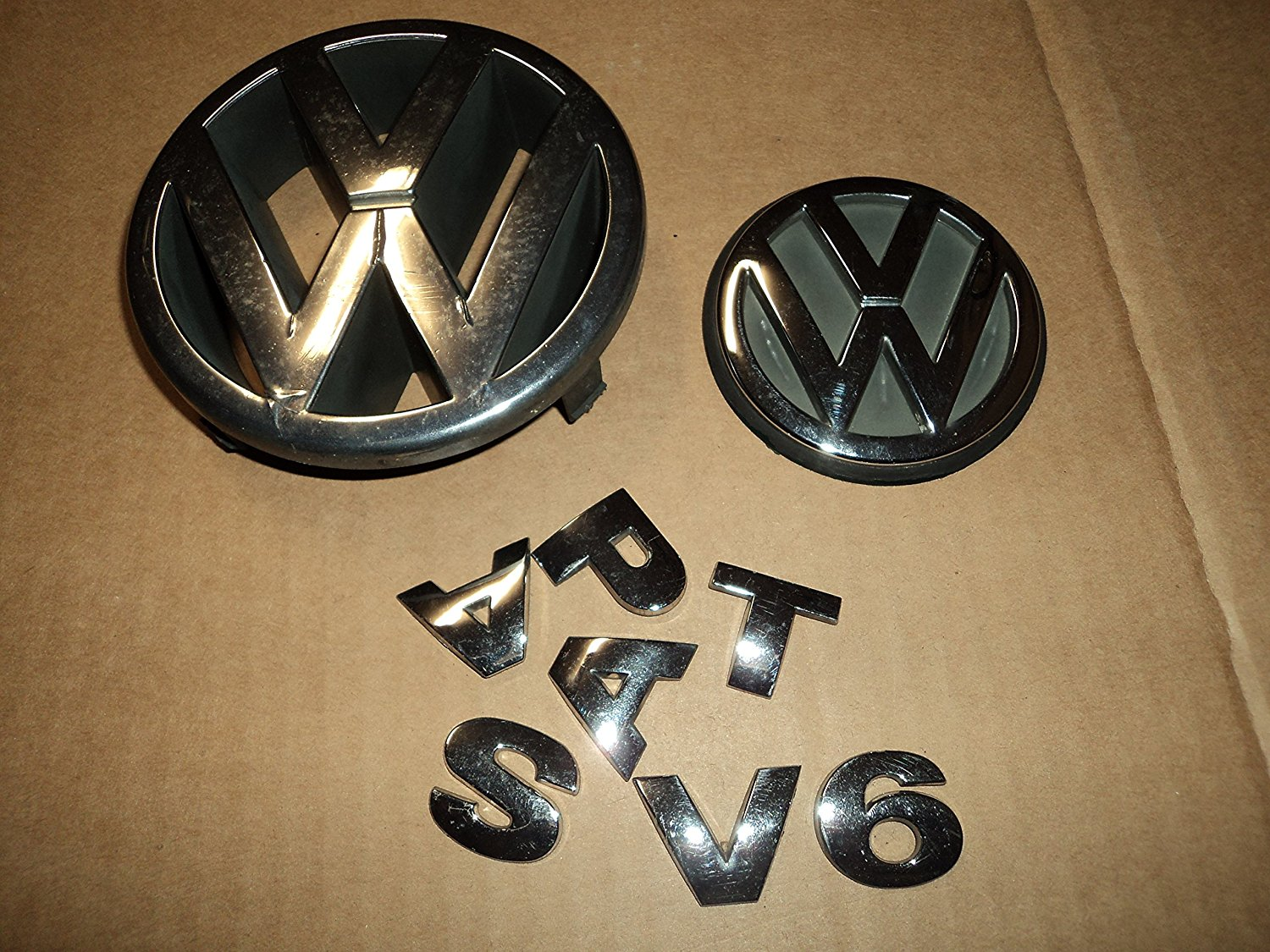 Get Quotations · VW Passat V6 Front Rear Trunk Chrome Symbol 3B0 853 630  630A Badge Nameplate Used Emblem