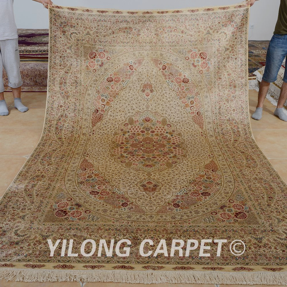 yilong 6x9 nou antique lavage tapis fait la main oriental or - Lavage Tapis