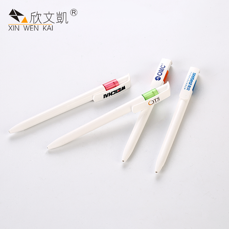 Plastic Material Custom Company Logo Printed Ball-Point Pen