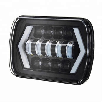 Factory directly! Rectangle 55w 6x7 led headlight dot for Trucks, Tractor