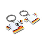 Custom Design Football T shirt shape PVC Keychain ,Football Club Jersey PVC Keychain