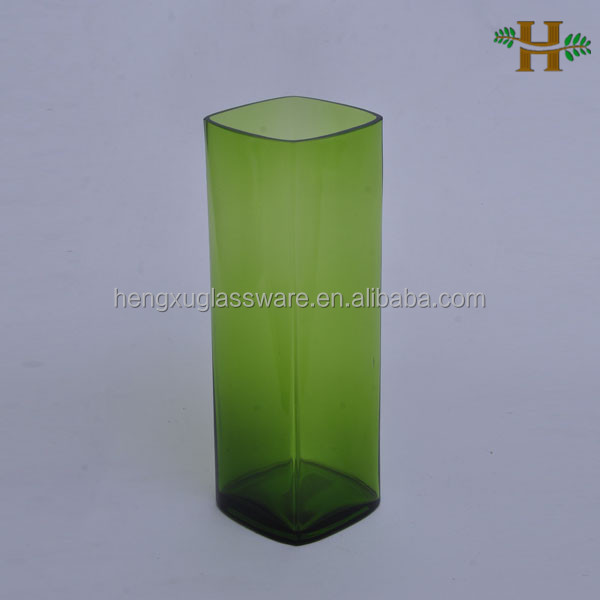 green tall glass vases hand blown square glass vases cheap colored glass vases wholesale