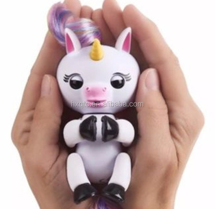 Unicorn Interactive Baby Electronic Finger Puppets Pet Electronic Little Baby Unicorn Children Kids Toy
