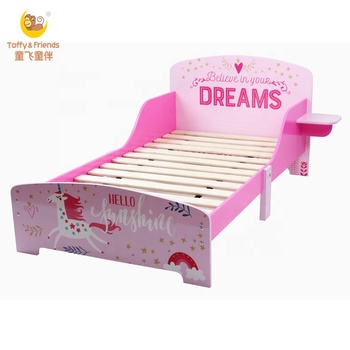 Toffy & Friends Girl Single Bed Wooden Toddler Bed In Swan