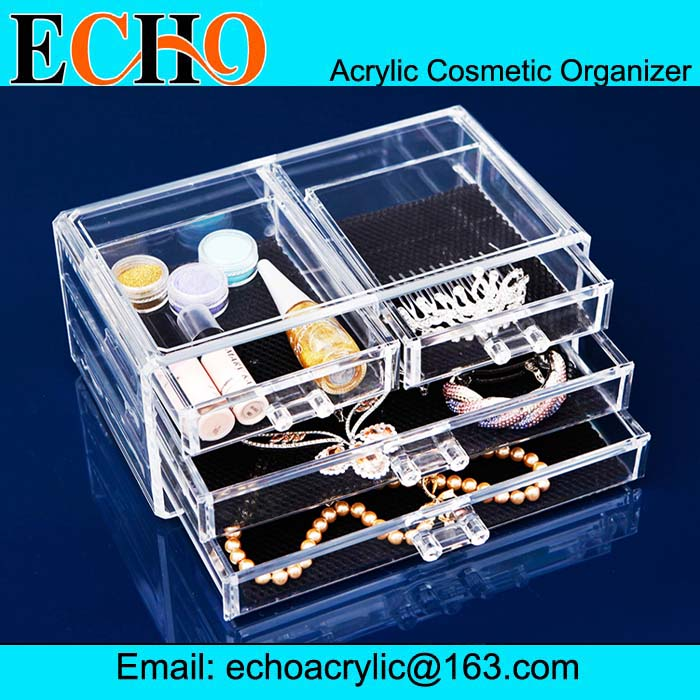 Wholesale yiwu acrylic factory cosmetic organizer with 4 drawers ...