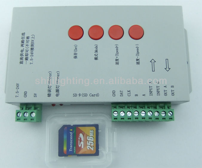 SD Card T1000 Full Color LED Controller LPD6803 WS2811 Strip Module 2048 Pixel