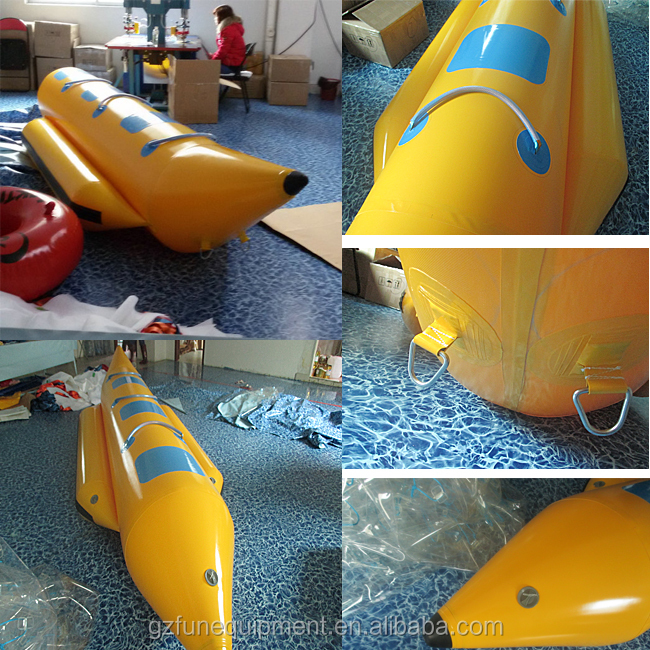 고품질 공장 물 스포츠 물 튜브 장식 풍선 바나나 보트 판매