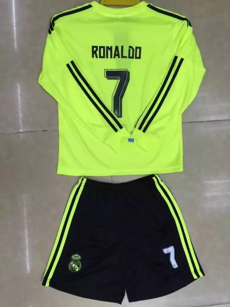 newest 04e34 dde48 Buy 2015/2016 Real Madrid Green Away Cristiano Ronaldo #7 ...