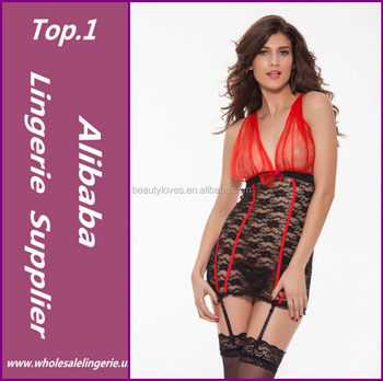 21507c52d 2015 Sexy Women Lingerie Erotic Costumes Lace Nightwear Transparent Sleep  Dress Babydolls Plus Size M-