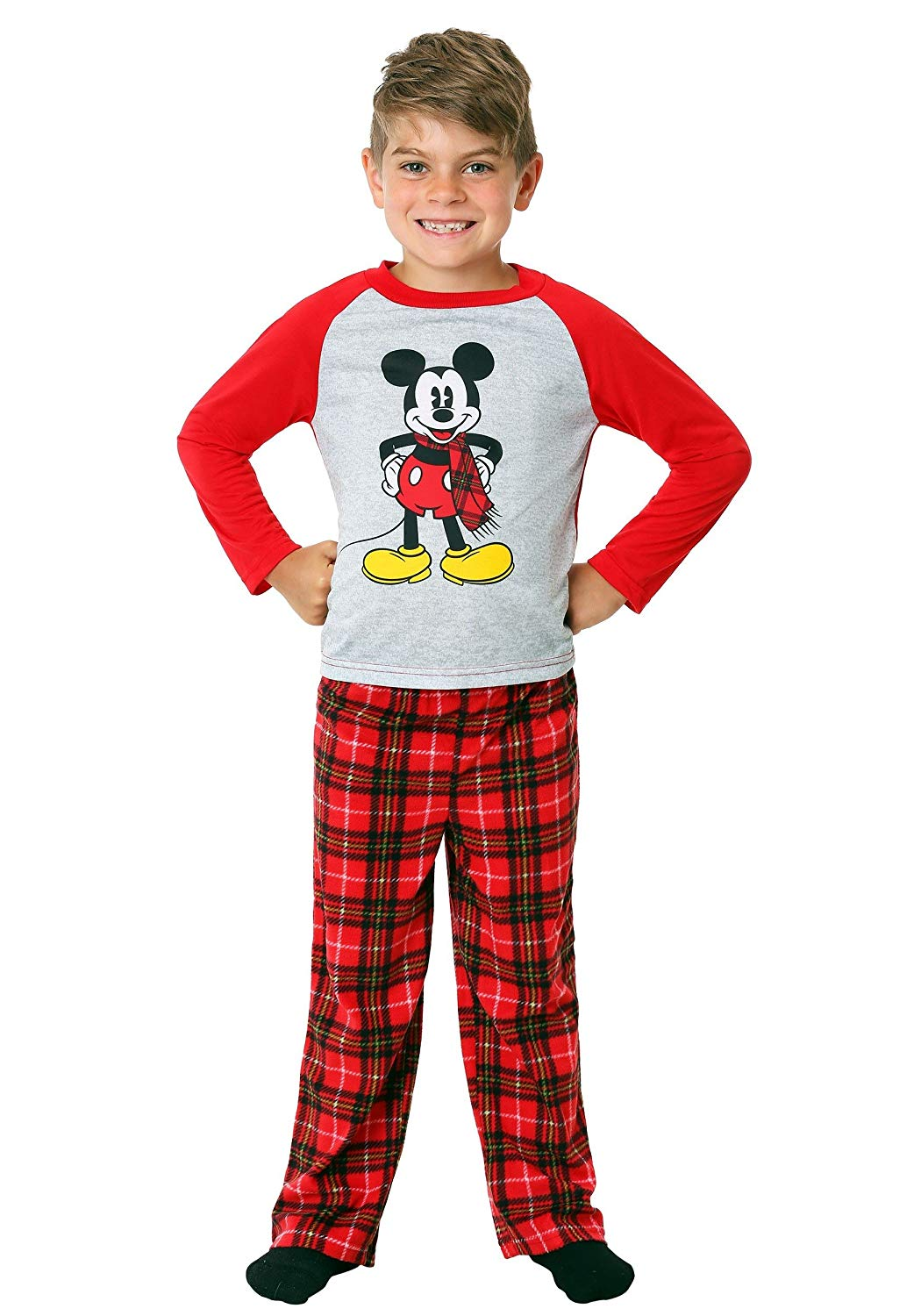 af6cf92d32 Get Quotations · Mickey and Minnie Mouse Christmas Holiday Family Sleepwear  Pajamas (Adult Kid Toddler)