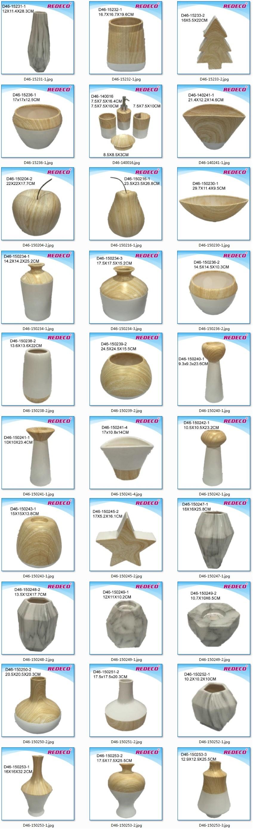 Wholesale Ceramic Wood Finish Decorative Bathroom Soap Dispenser