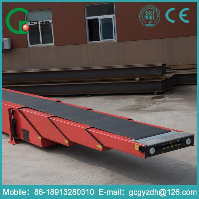 GUANCHAO-10 years experience Easy of maintenance low price ribbed telescopic belt conveyor