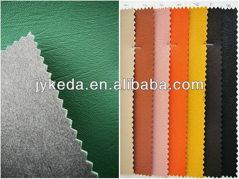 pvc bonded leather for bags and shoes