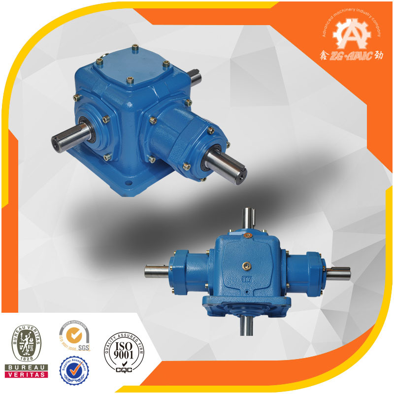 2 hours response gearbox manufacturer T Series 90 degree 1:1 ratio spiral bevel gear reducer