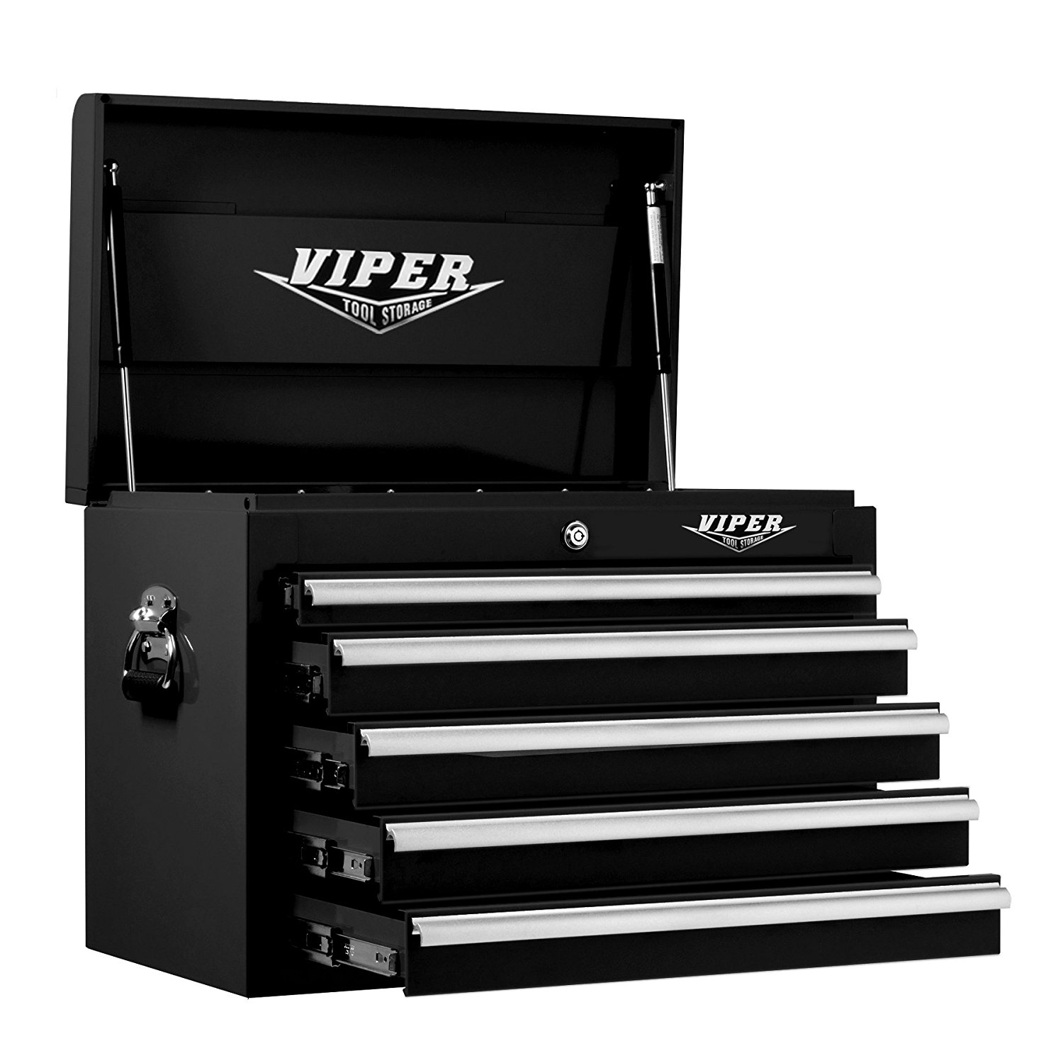 Viper Tool Storage V2605BLC 26-Inch 5-Drawer 18G Steel Top Chest, Black