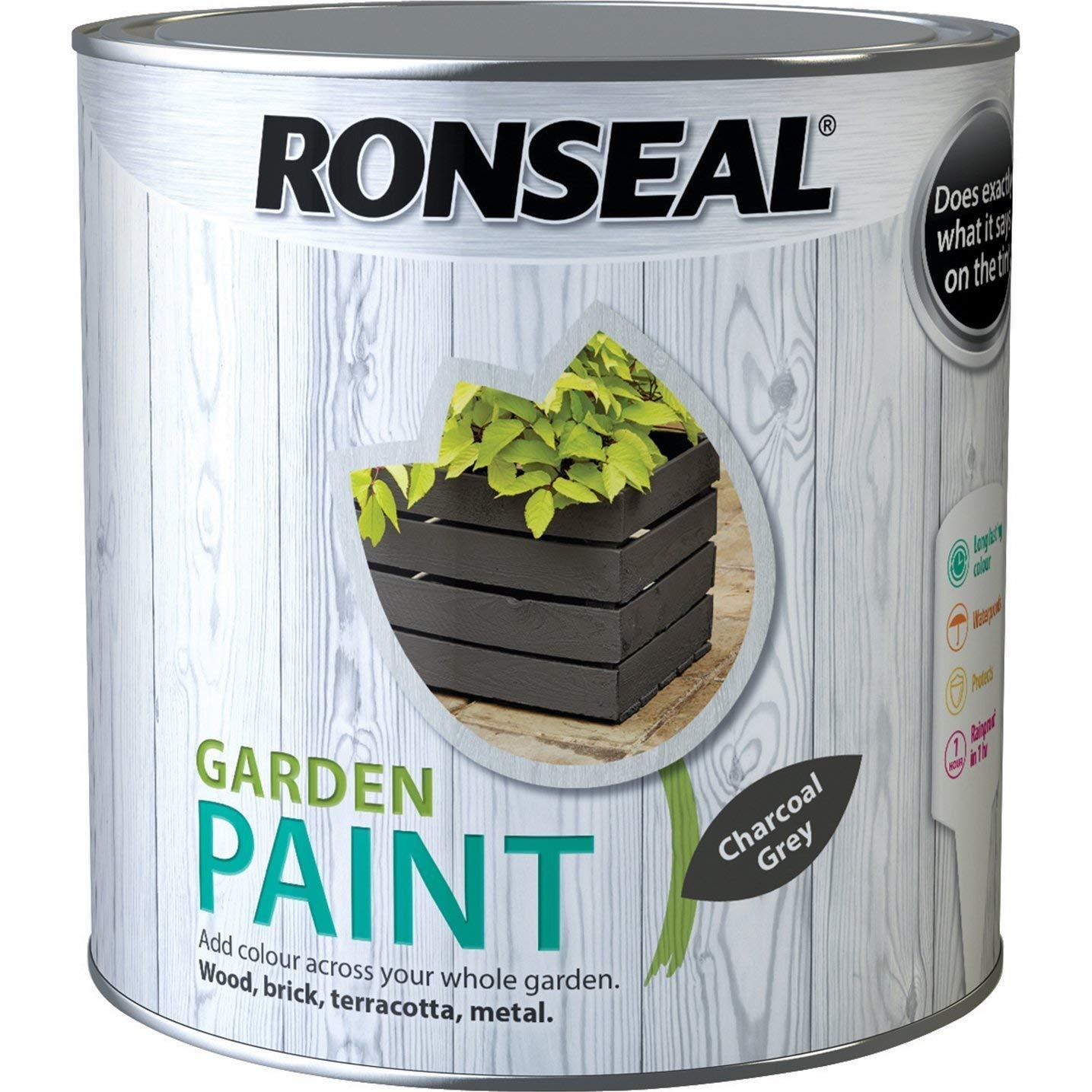 Ronseal Garden Paint 2.5l, Charcoal Grey
