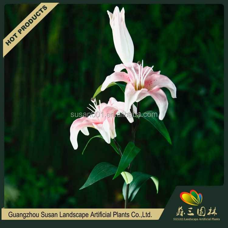 Wedding decoration giant plastic lily flower natural touch artificial PU lily flower