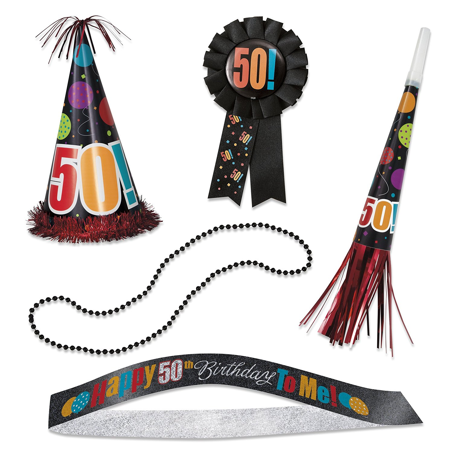 Birthday Cheer 50th Party Accessories Kit 5pc