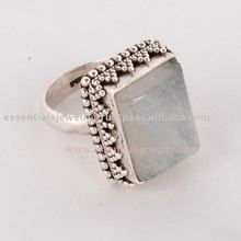 Fashion silver Moonstone rings