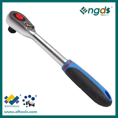 48Tchrome vanadium ratchet wrench with straight handle